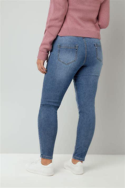 Leg 200 Medium Size Ekman Grab Sler Bottom Grab Sler blue vintage wash jeggings plus size 16 to 36