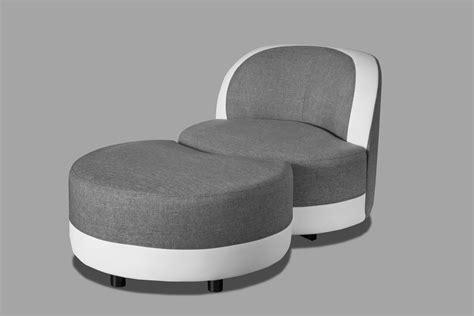 canapé avec pouf intégré fauteuil de chambre design