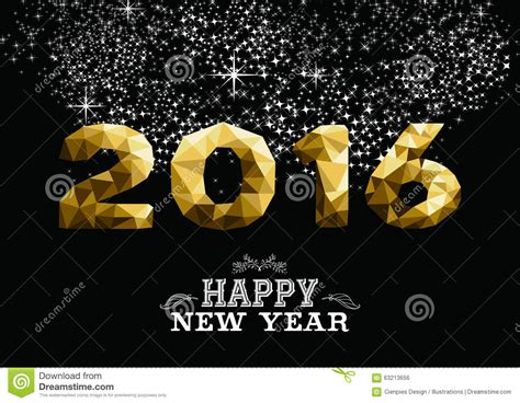 new year greeting gold happy new year gold low poly 2016 greeting card stock