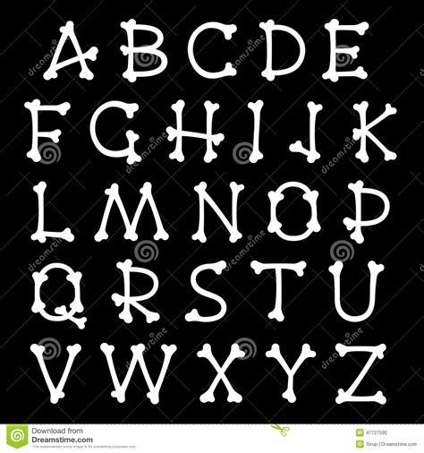conjunto completo de letras del alfabeto formadas como