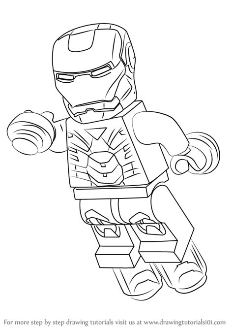 learn how to draw lego iron man lego step by step drawing