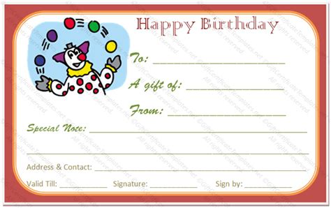 birthday gift certificate template day birthday gift certificate template gift certificates