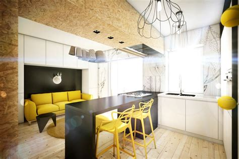 design apartment rome yellow touch apartment 25 sqm yellow black contrast in rome