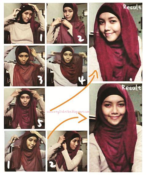 gambar tutorial hijab  remaja tutorial hijab