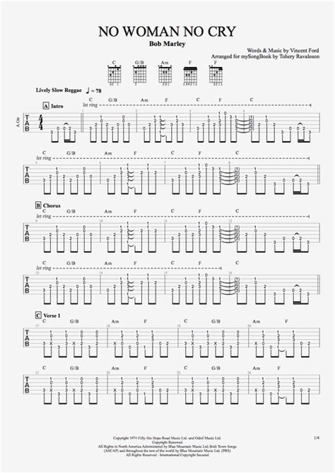 tutorial guitar no woman no cry no woman no cry by bob marley guitar vocals guitar pro