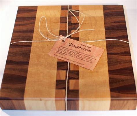 i made this cutting board in a workshop taught by gowanus handmade walnut maple and cherry end grain wood cutting