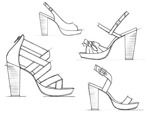 Shoes Design Drawing At Getdrawings Com Free For Personal Use Shoes Design Drawing Of Your Choice Heel Design Template