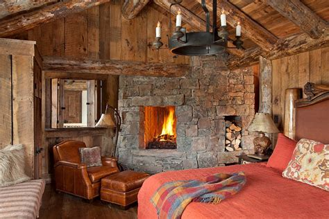 rustic cabin bedroom spanish peaks cabin a rustic gateway to big sky s