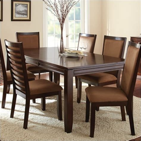 Bowery Hill Rectangular Dining Table In Espresso Bh 435336 Espresso Dining Table