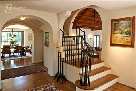 california mission style staircase foyer