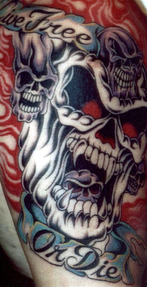 flaming skull tattoo gallery 171 nightwind