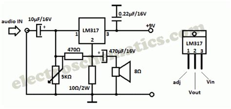 lm317 resistor wattage projects for ece april 2012