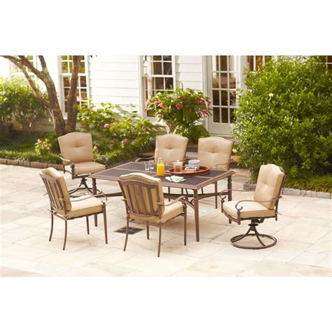 home depot patio dining sets hton bay eastham 7 patio dining set 723 002 000