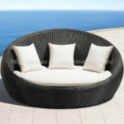 Rattan round wicker daybed outdoor patio furniture china outdoor