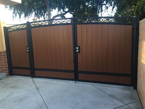 gate with door gates iron works inc in carson gates fences screen doors