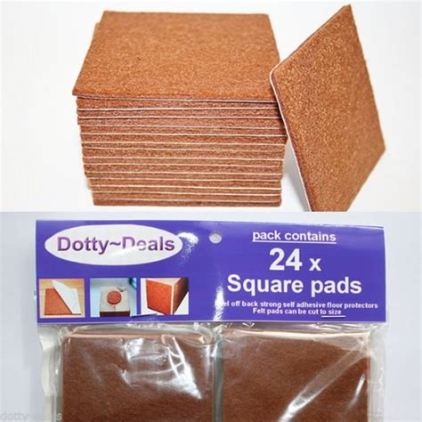 cut to size protector 24 x square cut to size felt floor protector pads dotty