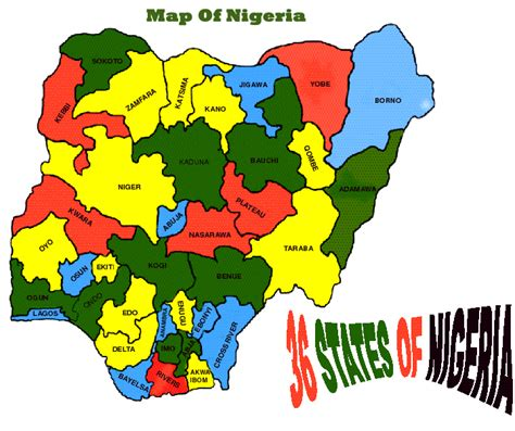 map of nigeria with states map of nigeria showing the 36 states search