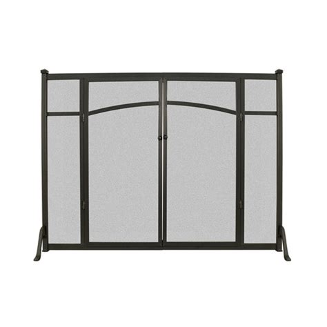 flat fireplace screen with doors open hearth flat panel fireplace screen with doors