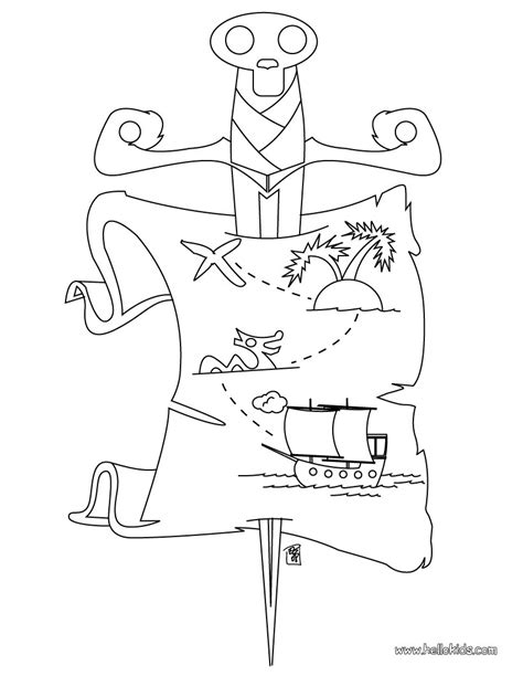 pirate coloring pages pirate treasure map