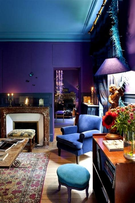 purple walls purple walls blue ceiling the purple room pinterest