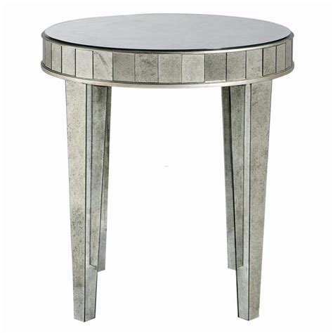 mirrored side table cheap bernhardt estelle mirrored round side table randy