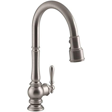 3 kitchen faucet kohler artifacts single handle pull sprayer kitchen faucet in vibrant stainless k 99259 vs