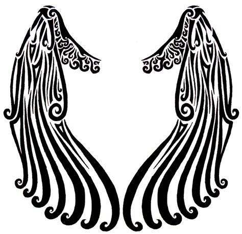 tribal angel wings tattoos tribal wings by lastharliquin on deviantart