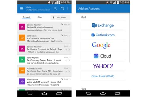 outlook android app outlook for android sheds preview tag after feature infusion pcworld