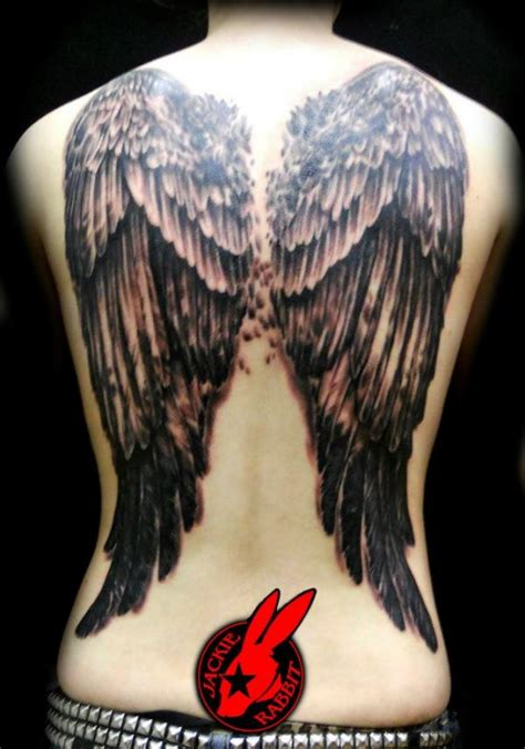 angel wing back tattoo 19 winged tattoos on back