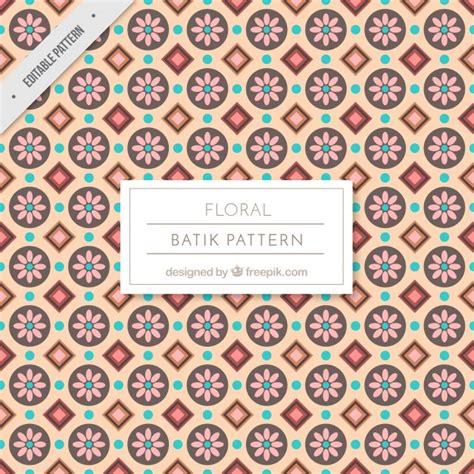 batik pattern illustrator free vintage batik floral pattern vector free download