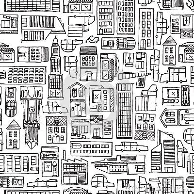 city background coloring page black and white cartoon city texture for adult coloring