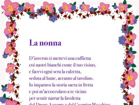 lettere alla nonna poesia per la nonna io e la nonna