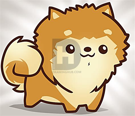 how to pomeranian dogs how to draw a pomeranian puppy step by step drawing guide by darkonator drawinghub