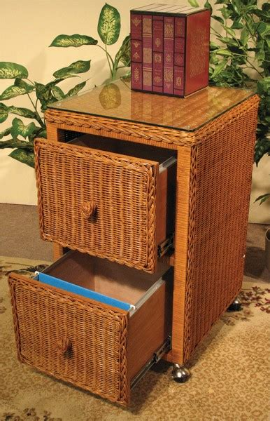 rattan 2 drawer file cabinet wicker file cabinet 2 drawers