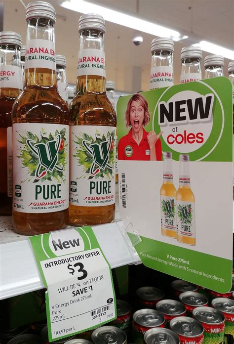 v energy drink coles new on the shelf at coles 30th december 2017 new