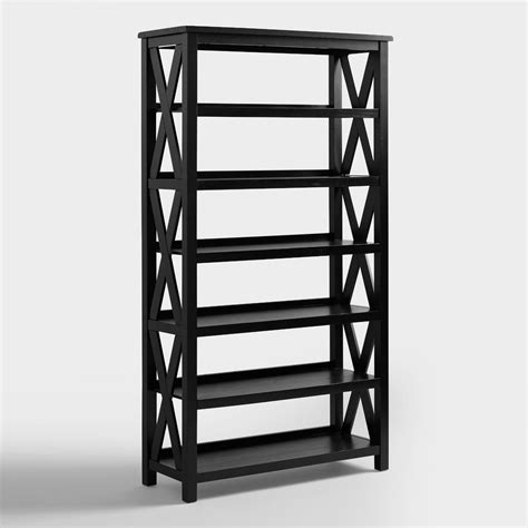 Black Bookshelves For Sale Antique Black Verona Six Shelf Bookcase World Market