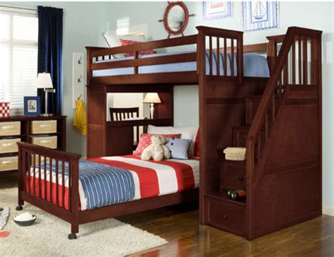 L Shaped Bunk Beds With Desk School House L Shaped Bunk Bed With Desk And Stairs Modern Loft Beds By Wayfair