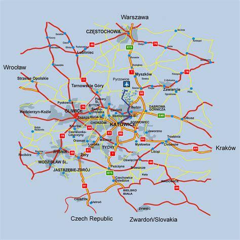 katowice map katowice map and katowice satellite image