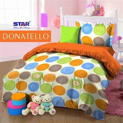 Sprei Donatello Hijau sprei donatello orange uk 160 t 25cm warungsprei