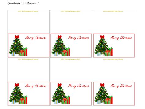 Christmas Table Name Cards Template Best Template Idea Table Setting Name Cards Template
