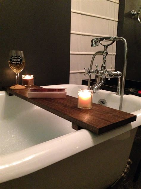wood bathtub caddy rustic bathtub caddy bath tray poplar wood clawfoot tub tray