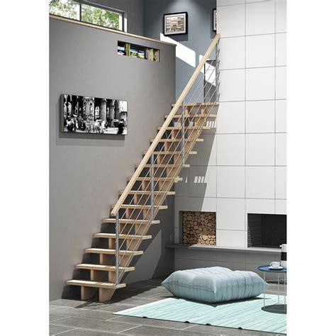 Charmant Salle De Bains Leroy Merlin #5: escalier-quart-tournant-bas-droit-allure-tube-structure-bois-marche-bois.jpg