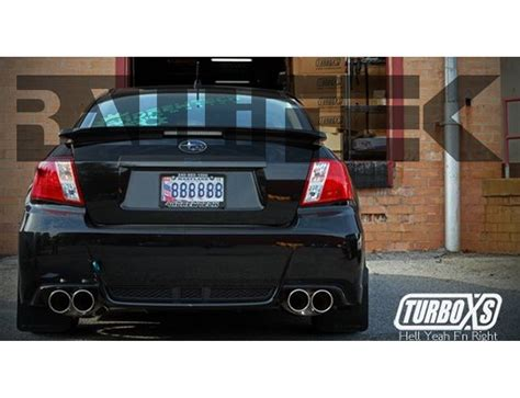 2011 subaru wrx exhaust systems turboxs tip catback exhaust wrx sedan 2011 2014