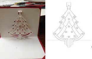 Free kirigami patterns pop up cards dyi christmas tree pop up card