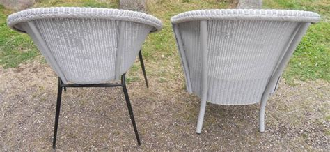 lloyd loom chairs 1950 two retro style 1950 s lloyd loom armchairs