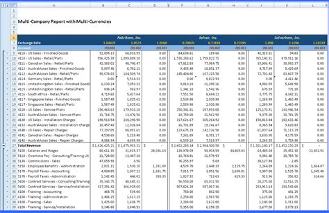 fixed asset schedule template multi co w multi currency reporting