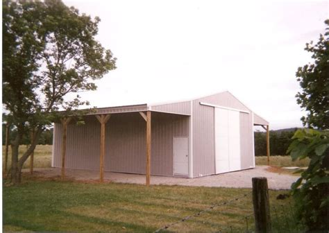 Metal Carport With Attached Shed Pole Barn Attached Overhang Carport Boat Cer Pole