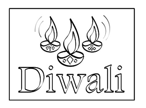 diwali coloring pages images diwali coloring page coloring cloths pinterest
