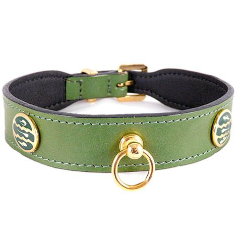 Barker Beds St Tropez Italian Leather Dog Collar Lime Green Unique