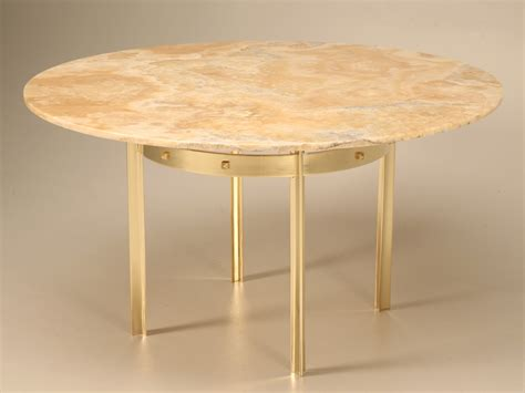 Onyx Dining Table Custom Made Modern Brass Onyx Dining Table For Sale
